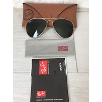 Cheap NEW Ray Ban RB3025 Large Aviator L0203 58 14 135 Sunglasses Gold Frame Green Les outlet