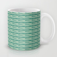 Blues abstract art by Lucine Mug by Lucine