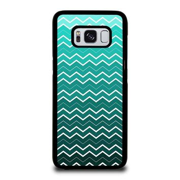 OMBRE TEAL CHEVRON Samsung Galaxy S8 Case Cover