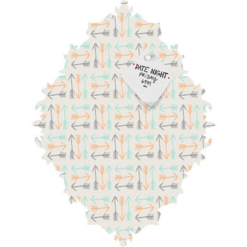 Allyson Johnson Peachy Arrows Pattern Baroque Magnet Board
