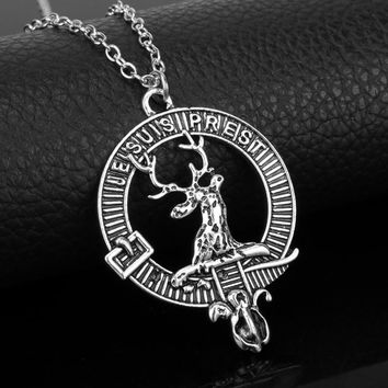 New Arrival Female Elegant Neklace Jewelry Je Suis Prest Outlander Scottish Kilt Deer Pendant Choker Necklace Charms Pendants