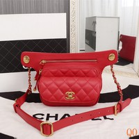 HCXX 19Aug 089 8189 Fashion Double Pocket Shoulder Embossing Flap Bag 21-15-6cm Red