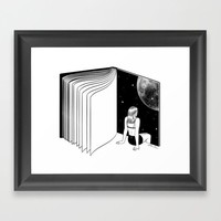Reading is Dreaming with Your Eyes Open Framed Art Print by Henn Kim