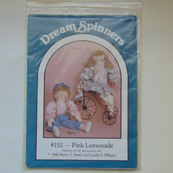 Pink Lemonade Craft Sewing Pattern for 22 inch Girl and Boy Doll by Dream Spinners #153