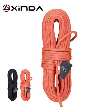 XINDA Camping Rock Climbing Rope 14mm Static Rope 38KN High Strength Safety Rope For Working at Height Climbing Equipment