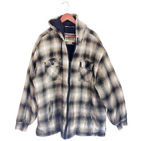 Hooded Flannel 4XL Men 4XL Jacket 4XL Shirt Flannel Jacket Hooded Flannel Insulated Flannel Men Fall Jacket 90s Grunge Jacket Grunge Flannel