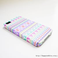 Pastel Aztec Geometric  iPhone 4 Case, iPhone 4s Case, iPhone 4 Cover, Hard iPhone 4 Case