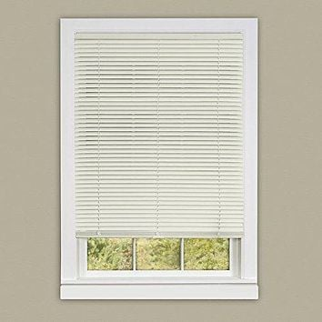 Ben&Jonah Collection Cordless Deluxe Sundown 1 inch  Room Darkening Mini Blind 23x64 - Alabaster