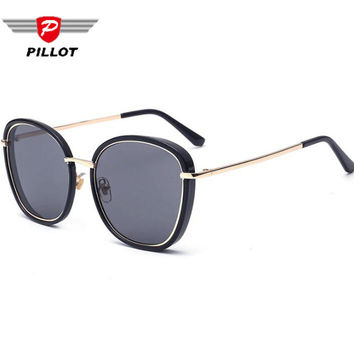 PILLOT Retro Vintage glasses large frame metal outdoor sunglasses