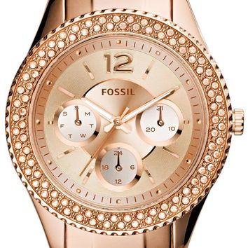 Fossil Stella Multifunction Crystal-Accented ES3590 Women's Watch