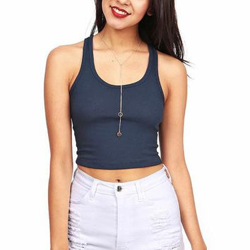 Cropped Racer Tank