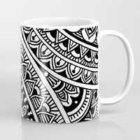 Black & White Boho Mug by Sarah Oelerich