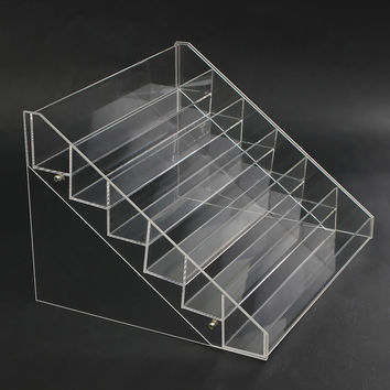 6 Tier 48 Bottles Clear Acrylic Rack Organizer Nail Polish Display Stand