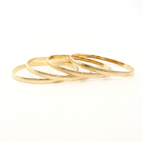 Glaze Over Gold Bangle Set