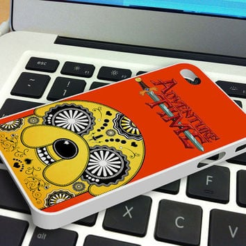 Jake Adventure Time Sugar Skull iPhone 4 iPhone 4S Case
