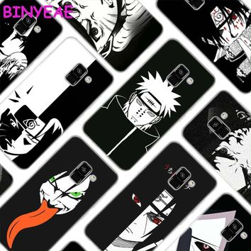Naruto Sasauke ninja BINYEAE  anime Black background Soft Transparent silicone Phone Cases for Samsung Galaxy A3 A5 A6 A7 A8 2016 2017 2018 AT_81_8