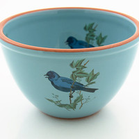 Bluebird of Happiness Bowl by LennyMud on Etsy
