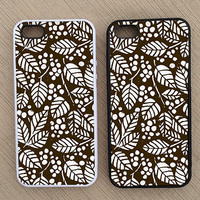 Cute Vintage Leaf Design iPhone Case, iPhone 5 Case, iPhone 4S Case, iPhone 4 Case - SKU: 145