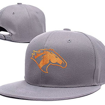BARONL Cal Poly Mustangs CP Division I Logo Adjustable Snapback Embroidery Hats Caps - Grey