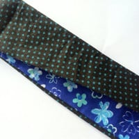 Blue Fabric Headband for Women - Reversible Headband - Women's Headband - Casual Headband - Polka Dot Headband - Flower Print Headband