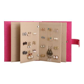 Leather Necklace/Earring Collection Jewelry Book Display Box