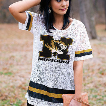 GAMEDAY Lace Jersey - MISSOURI