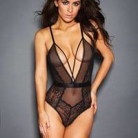 Genevieve Lace and Mesh Teddy