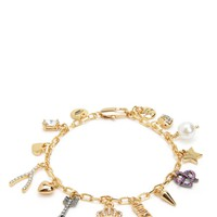Multi Mini Love Charm Bracelet by Juicy Couture