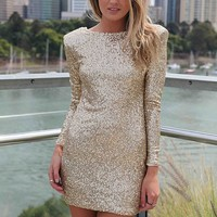 FLOURISH IN DARKNESS DRESS , DRESSES, TOPS, BOTTOMS, JACKETS & JUMPERS, ACCESSORIES, 50% OFF SALE, PRE ORDER, NEW ARRIVALS, PLAYSUIT, GIFT VOUCHER,,Sequin,Gold Australia, Queensland, Brisbane