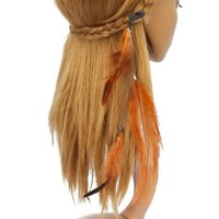 Hair Clips Feather Chain - for Hair Clip Beauty Tools (Brown)