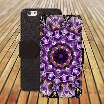 iphone 6 case purple crocuses mandala colorful iphone 4/4s iphone 5 5C 5S iPhone 6 Plus iphone 5C Wallet Case,iPhone 5 Case,Cover,Cases colorful pattern L508