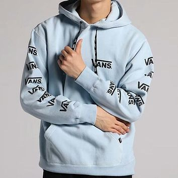 VANS 2018 tide brand men's and women's armband string tag hoodie sweater F-AA-XDD blue