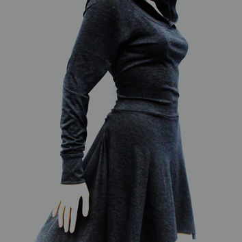 Dress /Hoodies / High Low Dress / Low High by MIRIMIRIFASHION