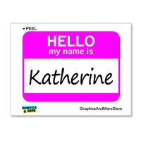 Katherine Hello My Name Is Sticker