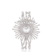 WATCH IN 18K WHITE GOLD, CULTURED PEARLS AND DIAMONDS - CHANEL