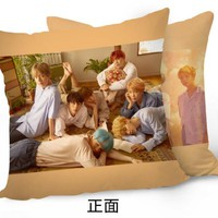 New Kpop BTS Bangtan Boys Love Yourself JIN SUGA RAPMONSTER The Same Sofa soft bolster car waist pad cushions double pillow