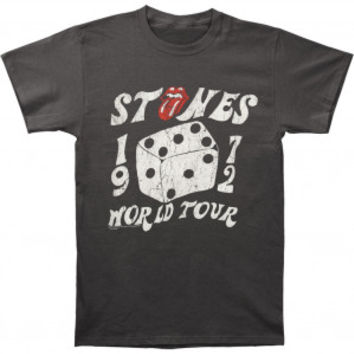 Rolling Stones 1972 Dice Slim Fit T-shirt - Rockabilia