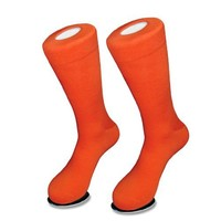 6 Pair of Biagio Solid ORANGE Color Men's COTTON Dress SOCKS