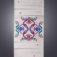 """Handwoven unique wool rug - """"Four -Leaved Heart"""" - handmade piece of fibre art for your home decor by Rugs N' Bags - limited edition rug"""