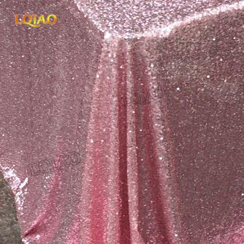 Sparkly Pink Gold/Silver 120x200cm Sequin Glamorous Tablecloth/Fabric For Wedding Party Table Decorations Sequin Table Cloth