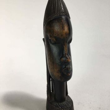 Vintage Carved African Wood Sculpture