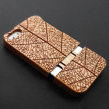 Life Tree Cherry Wood iPhone 5s Case - Real Wood iPhone 5 Case - Custom iPhone 5s Case Wood - Wooden iPhone 5 Case - Christmas Gift