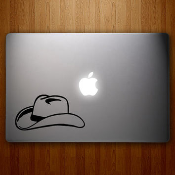 Cowboy Hat Decal - Cowgirl Hat Decal - Cowgirl Up - Cowboy Sticker - Vinyl MacBook Decal
