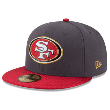 Men's San Francisco 49ers New Era Graphite/Scarlet Gold Collection On Field 59FIFTY Fitted Hat