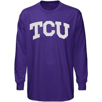 TCU Horned Frogs Purple Arched Lettering Long Sleeve T-shirt