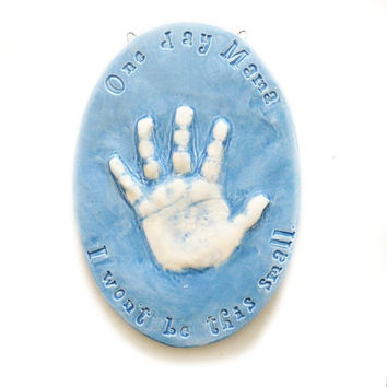 Kids Gift - Child's Handprint Onament - Ceramic Handprint Ornament - Personalized Gifts For Kids - Custom Kids Gift - Ornament For Kids