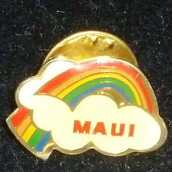 Maui Hawaii Rainbow Pin