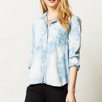 Clouded Chambray Buttondown by Cloth & Stone Blue Motif M Tops