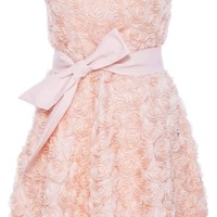 Romwe Women's Stereo Faux Roses Embellished Polyester Bowknot Polyester Bandeau Dress