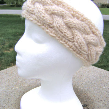 Knit Headband PATTERN - Prada Inspired Cable Headband- INSTANT DOWNLOAD